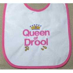 Queen of Drool Bib